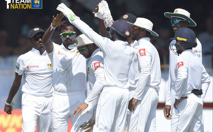 Sri Lanka cricket team in a match against England on 25 November 2018. Picture: @OfficialSLC/Twitter.
