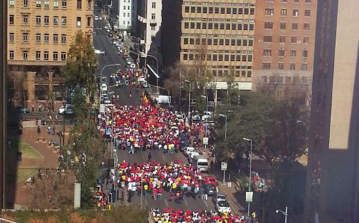 Members of Popcru march in the Joburg CBD on 30 May 2013. Picture: Alexandra Kirker/iWitness