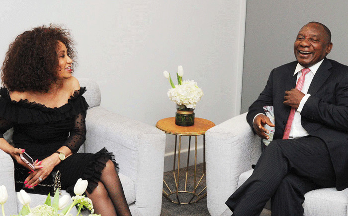 FILE: International Relations and Cooperation Minister Lindiwe Sisulu with President Cyril Ramaphosa at Cape Town International Convention Centre (CTICC) for the Ubuntu Awards, in Cape Town, on 22 March 2018. Picture: GCIS.