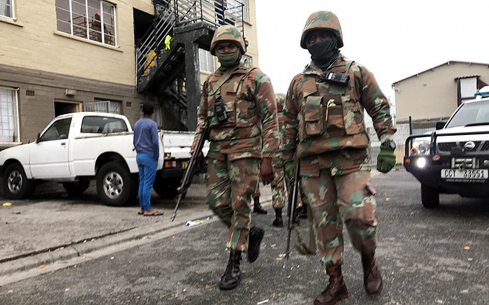 FILE: The SANDF arrived in Manenberg on 18 July 2019, as part of an anti-crime operation in gang-plagued areas on the Cape Flats. Picture: Kaylynn Palm/EWN