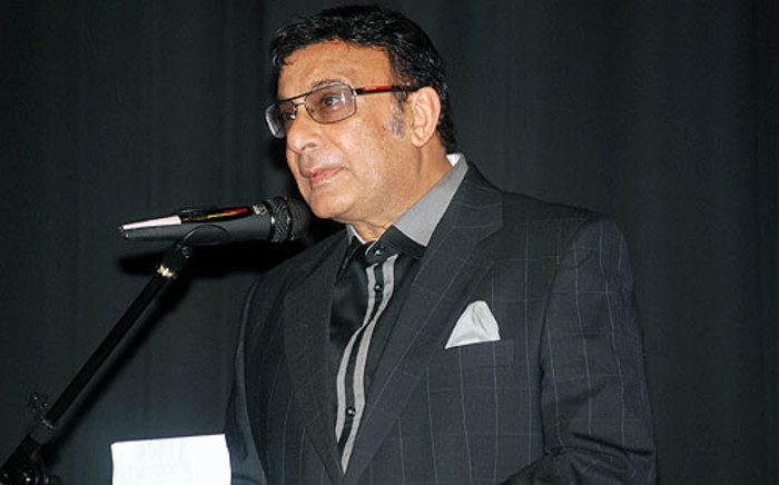Property mogul Sayed Mia speaks during the Bollywood Centenary Awards Celebrations in October 2012. Picture: www.lenzinfo.org.za