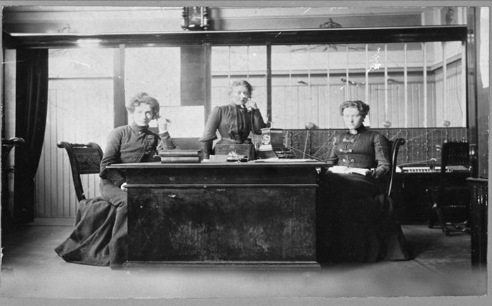 The way things were. Women on the Stockholm telephone system in the early 1900s.