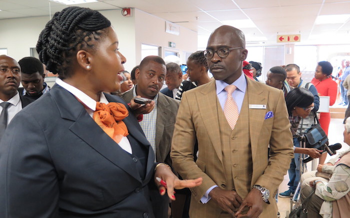 Minister Malusi Gigaba tours the newly renovated Edenvale Home Affairs offices. Photo: Louise McAuliffe