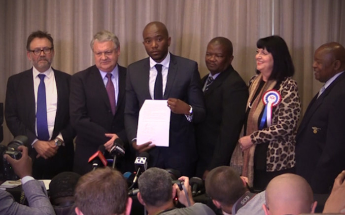 FILE: The UDM, FF+, IFP and ACDP have rallied behind the DA after local government elections. Picture: Kgothatso Mogale/EWN.