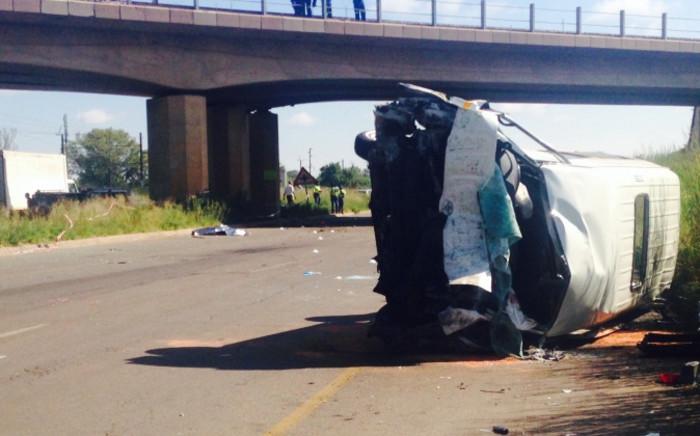 FILE: The accident scene on the R101 near Pyramid in Pretoria. Picture: Dineo Bendile/EWN.