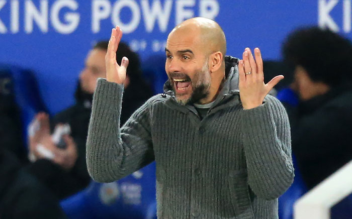Manchester City manager Pep Guardiola reacts during his side's English Premier League match against Leicester City on 26 December 2018. Picture: AFP