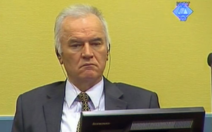 Former Bosnian Serb army chief Ratko Mladic. Picture: AFP