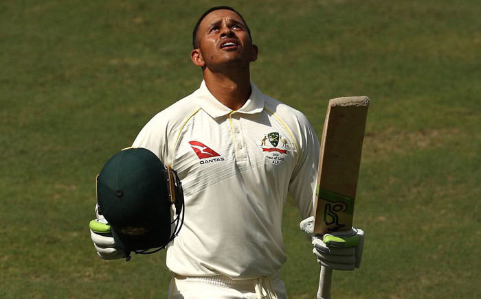 FILE: Australia's Usman Khawaja celebrates his century. Picture: @cricketcomau/Twitter