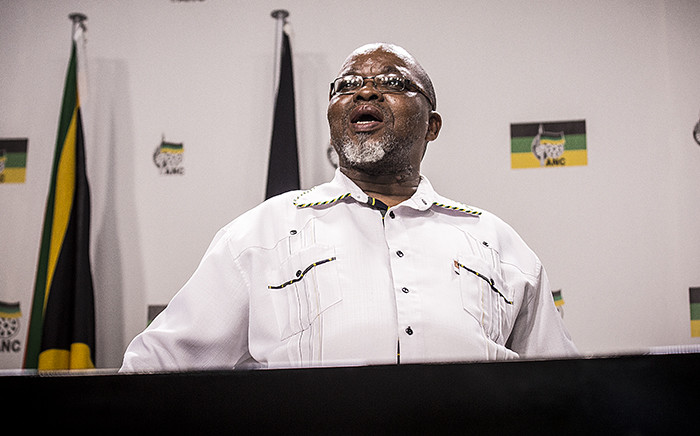 ANC Secretary General Gwede Mantashe addressed the media at Luthuli House in Johannesburg on the party's response to the Constitutional Court's ruling on the Nkandla saga. Picture: Reinart Toerien/EWN.
