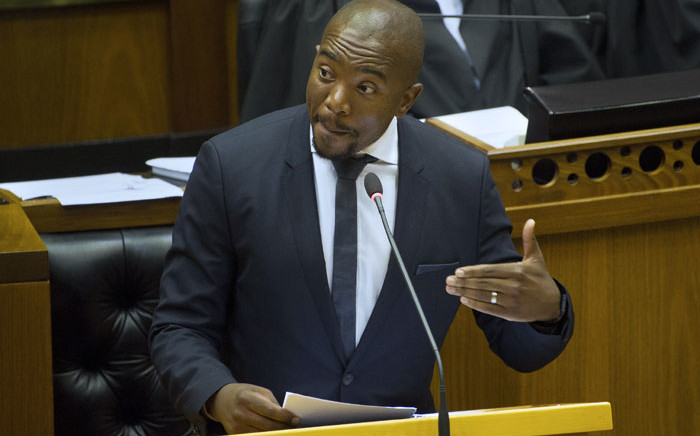 FILE: DA leader Mmusi Maimane in Parliament. Picture: AFP