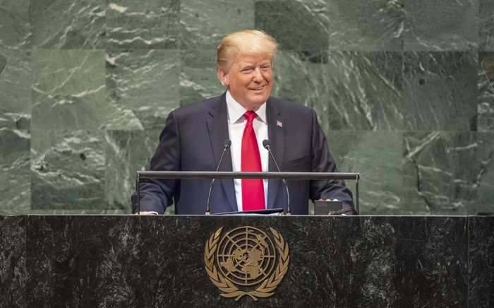 President Donald Trump addresses the general debate of the General Assembly's seventy-third session. Picture: United Nations Photo.