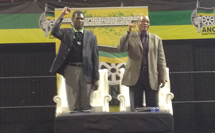 President Jacob Zuma and Paul Mashatile attend a gathering with ANC volunteers for next 2014 elections. Picture: Govan Whittles/EWN