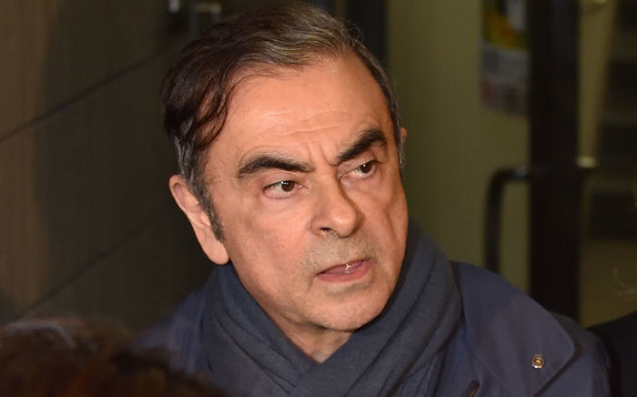FILE: Former Nissan chairperson Carlos Ghosn leaves the office of his lawyer Junichiro Hironaka in Tokyo on 3 April 2019. Picture: AFP