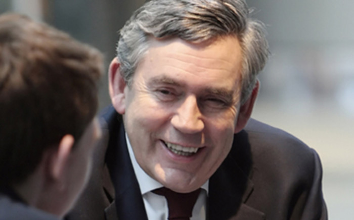FILE: Gordon Brown urged Boko Haram to free the Nigerian schoolgirls it has held for 10 months.