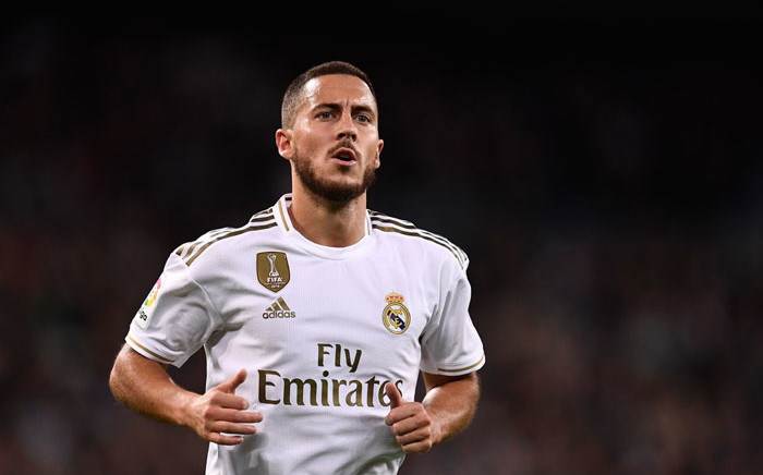 FILE: Real Madrid forward Eden Hazard in action during the Spanish League football match against Real Betis at the Santiago Bernabeu stadium in Madrid, on 2 November 2019. Picture: AFP