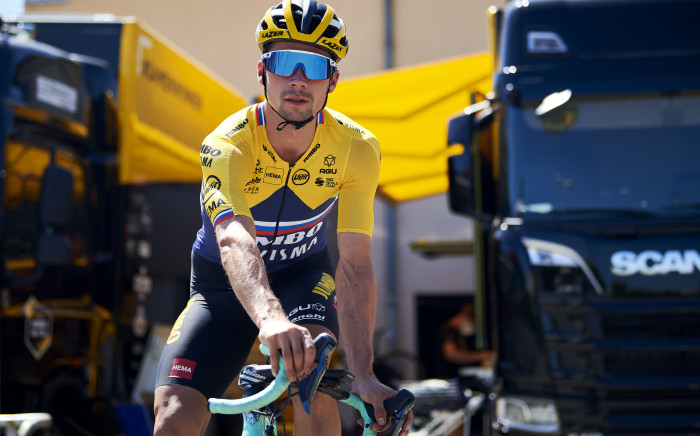 Primoz Roglic has in his armoury is his fabulous strength which gives him an irresistible late kick at the 2020 Tour de France. Picture: @JumboVismaRoad/Twitter