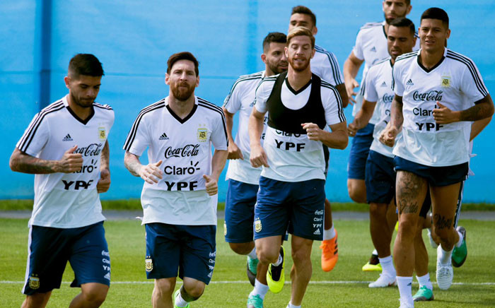 Argentina player during a training session. Picture: @Argentina/Twitter.