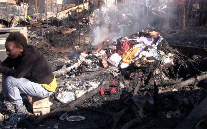 Scores left homeless following a shack fire. Picture: EWN