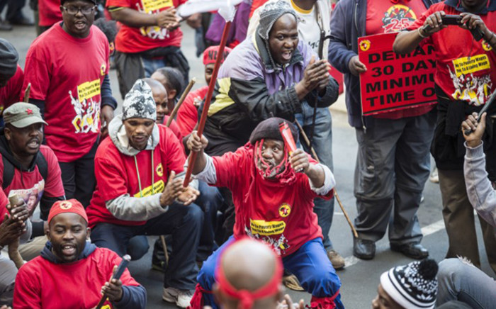 Numsa was Cosatu's largest affiliate with nearly three hundred and fifty thousand members. Picture: AFP.