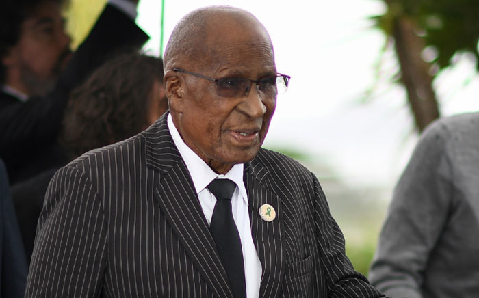 FILE: Anti-Apartheid campaigner and former political prisoner Andrew Mlangeni at an event in Cannes. Picture: AFP