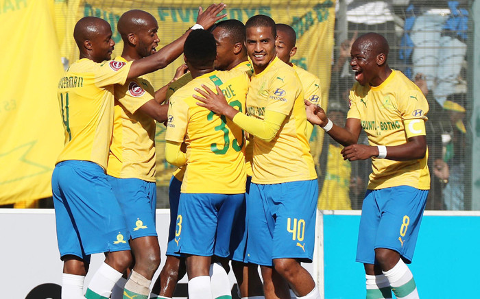 FILE: Mamelodi Sundowns celebrate a win. Picture: @Masandawana/ Twitter