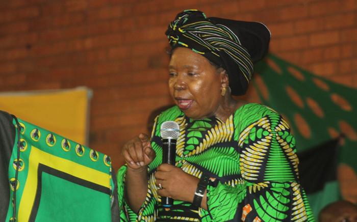 FILE: Nkosazana Dlamini-Zuma at a cadres assembly in Evaton. Picture: nkosazana.com