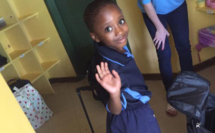 FILE: Lesedi Modise on her first day of school. Picture: Moeketsi/Twitter