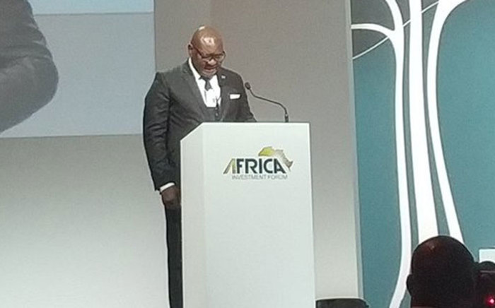 Gauteng Premier David Makhura at the Africa Investment Forum on 6 November 2018. Picture: @AIFMarketPlace/Twitter