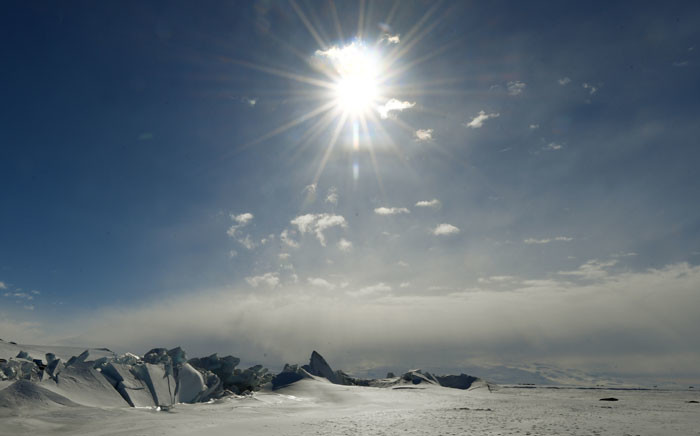FILE: A frozen section of the Ross Sea at the Scott Base in Antarctica. Picture: AFP.