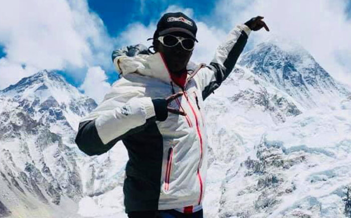 South African mountaineer Saray Khumalo in Nepal during her attempt to summit Mount Everest. Picture: Summits with a purpose Facebook page
