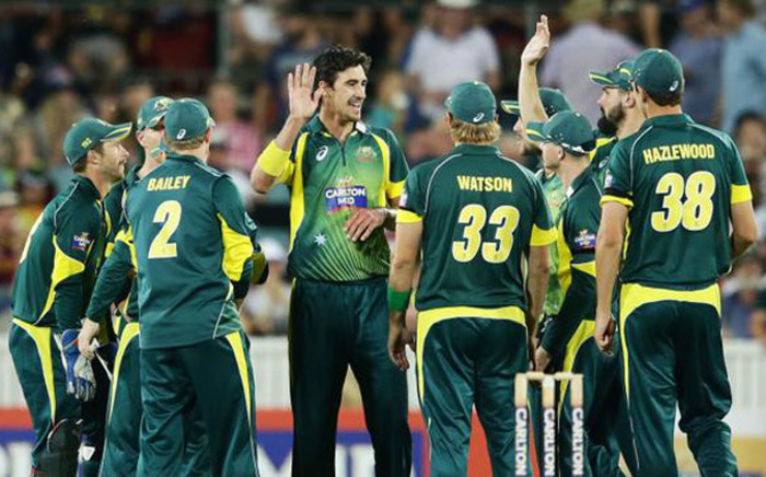 The Australian team celebrate their victory against South Africa on 19 November 2014. Picture: Facebook.