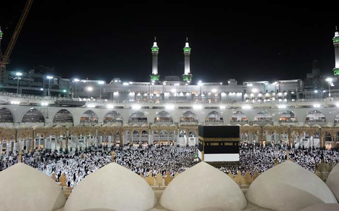 FILE: Muslim pilgrims gather at the Grand Mosque in the holy Saudi city of Mecca early on August 30, 2017, during the annual Hajj pilgrimage. For the faithful, it is a deeply spiritual journey, which for centuries every capable Muslim has been required to make at least once in their lifetimes. In the age of social media and live video streaming, it's now also an experience to be shared in real time. Picture: AFP.