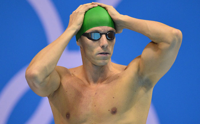 FILE: South Africa's Roland Schoeman prepares to compete in the men's 50m freestyle semifinals swimming event at the London 2012 Olympic Games on 2 August 2012 in London. Picture: Fabrice Coffrini/AFP