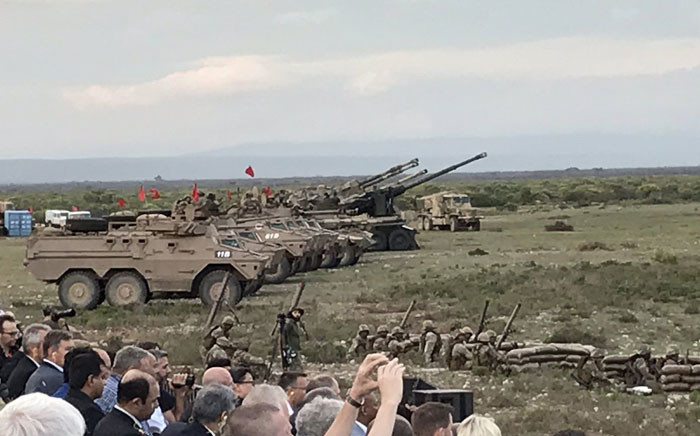 FILE: Arms manufacturer Rheinmettal Denel Munition (RDM) in collaboration with the SANDF hosted an international event with a variety of live air, land and sea ammunition capability displays in early 2019. Picture: Kevin Brandt/EWN.