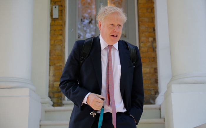 Conservative MP Boris Johnson leaves a house in London on 30 May 2019. Picture: AFP