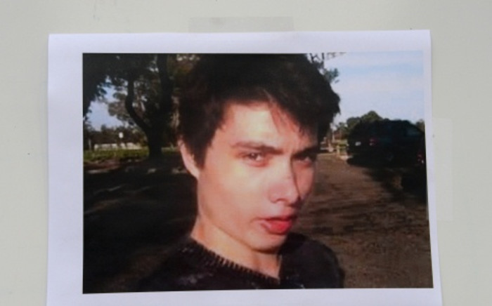 An undated photo of murder suspect Elliot Rodger is seen at a press conference by the Santa Barbara County Sheriff in Goleta, California on 24 May, 2014. Picture: AFP.