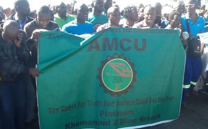 FILE: Amcu members met at the Olypia Stadium in Rustenburg on Sunday 19 January 2014, for a central mass meeting on proposed strike action for higher wages. Picture: Gia Nicolaides/EWN.