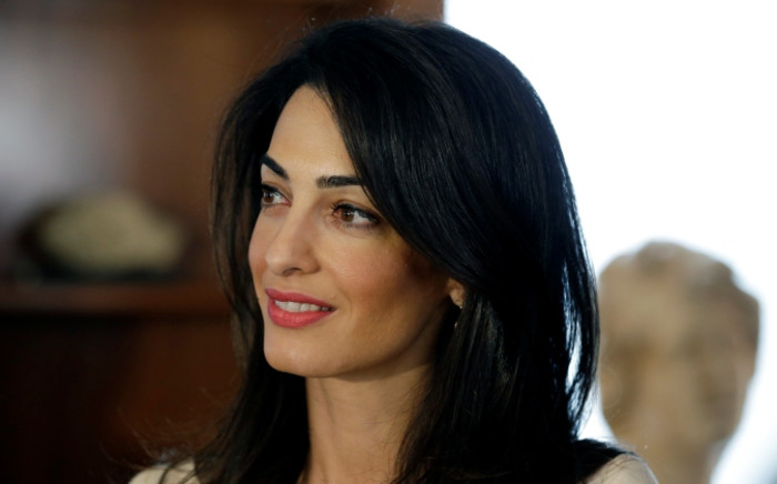 Human rights lawyer Amal Alamuddin Clooney. Picture: AFP.