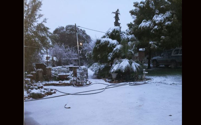 Snow as seen towards Ceres, Karoo. Picture: Supplied.