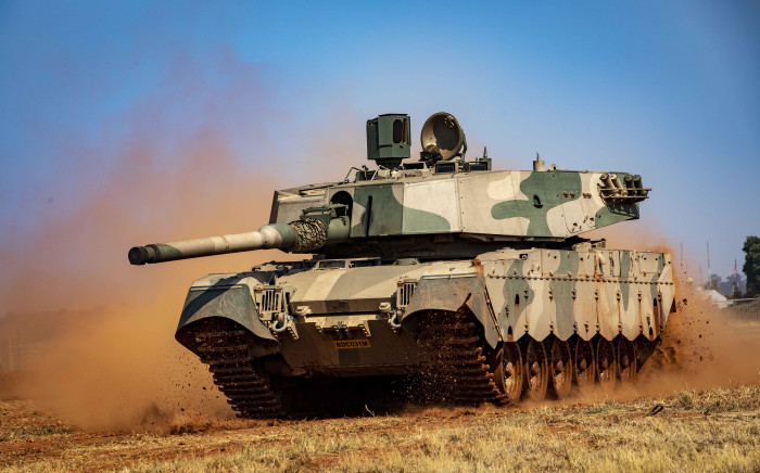 FILE: An SANDF Olifant Mk 2 Battle Tank on manoeuvrability display at the African Aersospace and Defence exhibit at Waterkloof Airbase. Picture: Thomas Holder/EWN