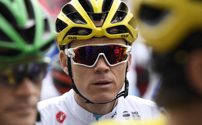 Great Britain's Christopher Froome waits for the start of the 203,5 km second stage of the 104th edition of the Tour de France cycling race on 2 July, 2017 between Dusseldorf, Germany and Liege, Belgium. Picture: AFP.