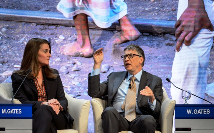 Melinda and Bill Gates. Picture: AFP.