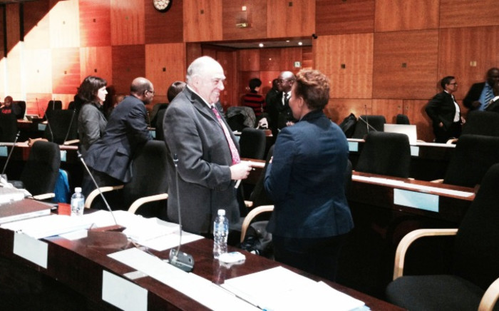 Ronnie Kasrils at the Seriti Commission of Inquiry on 6 June, 2014. Picture: Sebabatso Mosamo/EWN.