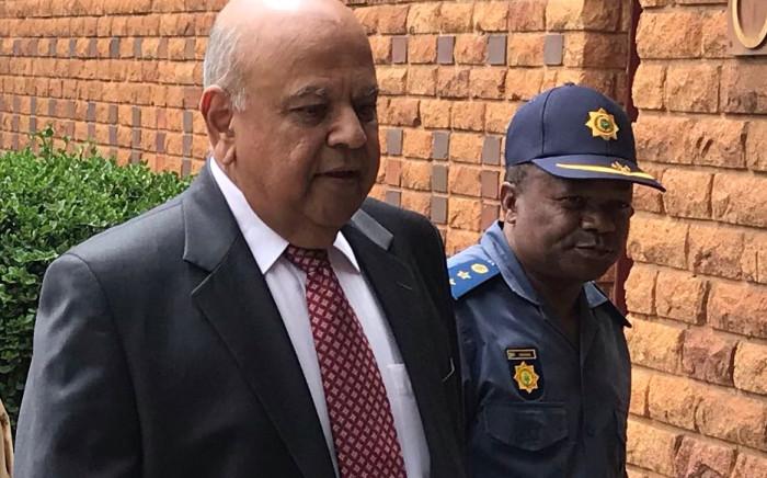 Pravin Gordhan arrives at the Brooklyn Police Station on 26 November 2018 to open criminal cases against EFF leader Julius Malema. Picture: Barry Bateman/EWN