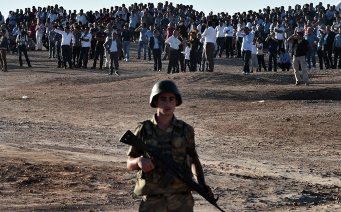 The dusty Syrian town of Ain al-Arab (Kobane) on the frontier with Turkey has become a key battleground between IS jihadists and local Kurdish fighters as well as the US and its allies. Picture: AFP
