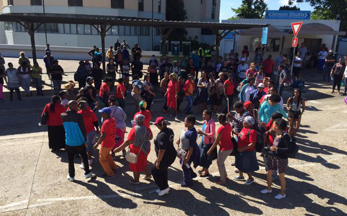 University of Cape Town students protesting on campus as they push for no fee hike at the university on 21 October 2015. Picture: Natalie Malgas/EWN.