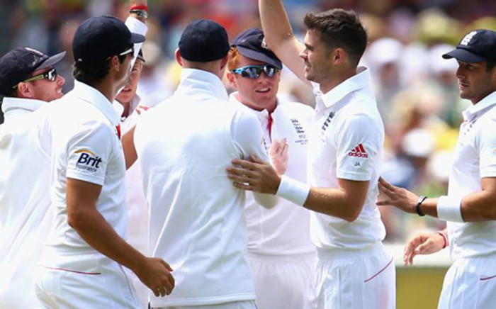England players celebrate after Day 2 of the fourth Ashes Series. Picture: England Cricket Board/Facebook.