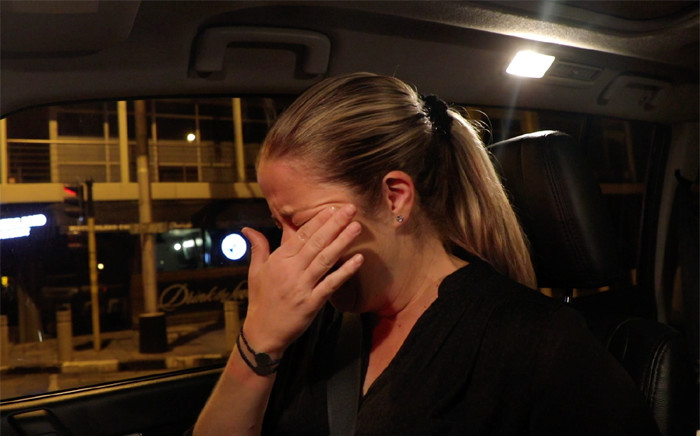 Cindy Poluta could not hold back her tears as she shares memories of the morning drives with her friend Alfred Goge. Picture: Christa Eybers/EWN
