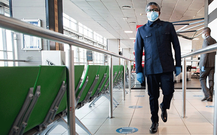 Transport Minister Fikile Mbalula at OR Tambo International Airport on 3 June 2020 to check adherence to a set of measures put in place to protect those who will be using the airport to get to their destinations. Pictures: Sethembiso Zulu/EWN