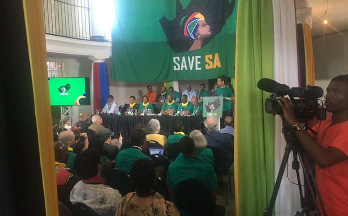 FILE: Save SA has organised a week long sit in at Church Square. Picture: Clement Manyathela/EWN.